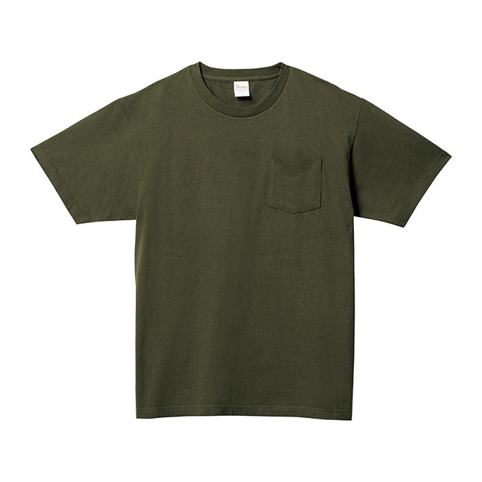 109-PCT 5.6オンス ヘビーウェイトポケットTシャツ