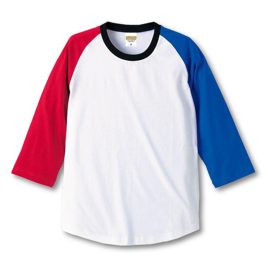 5404-01 ラグラン 3/4スリーブ Tシャツ